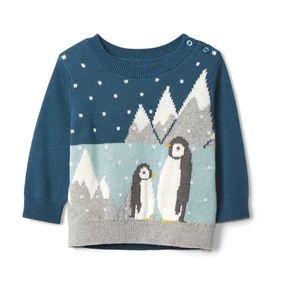 Baby Gap Baby Boys Penguin Sweater
